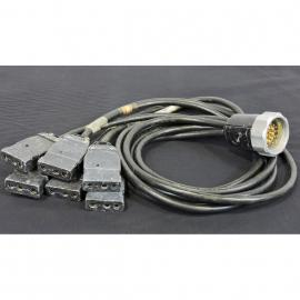 Lex Products Socapex 19 Male pin Cable Breakout to six 20A-2P&G FEM  5'