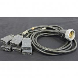 Lex Products Socapex 19 Male pin Cable Breakout to six 20A-2P&G FEM  3'