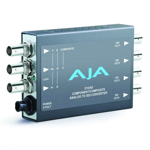 AJA D10AD Component/Composite Analog to SDI Converter