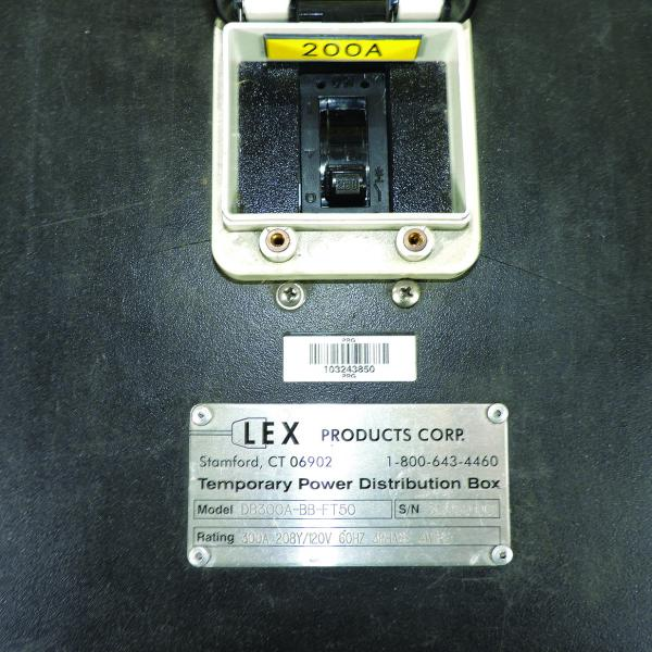 Lex Power Distibution Box 200 Amp L21-30 Edison Duplex